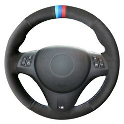 Black Suede 3 Color Marker Car Steering Wheel Cover For Bmw M3 2009-2013 E92
