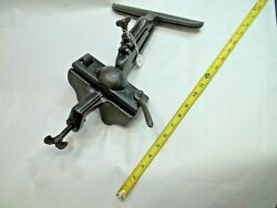 Vise, Woodworkers Hand Saw Bench Sharpening Swivel Vise With 9-1/2 Long Jaws
