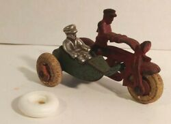 Hubley Cast Iron Side Car Motorcycle