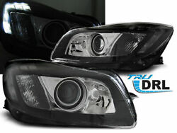 Black Led Headligths With True Drl For Opel Insignia Mk2 08-12