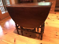 Antique Drop Leaf Gate Leg Table Hand Turned Legs Mahogany. 1800andrsquos Wandmary Style
