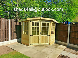 Summerhouse Corner Shed Garden Shed Man Cave Summer House Treated Man Cave
