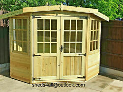 Summer House Shed Man Cave Corner Garden Office Wooden Play House