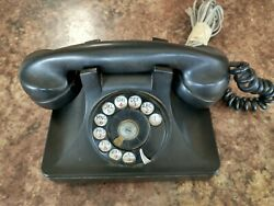 1940andrsquos-old Vintage North Electric Co. Rotary Desk Phone Black Telephone.