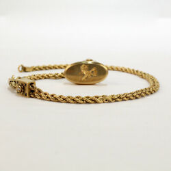 Antique Victorian Gold And Enamel Watch Chain With Slides And A Fob Seal - Vr