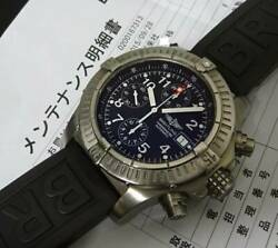 Breitling Chrono Avenger E13360 Black 44mm Menand039s Automatic Winding Watch