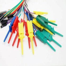 10pcs Test Hook Clip For Logic Analyser W/ With Dupont Female Cable 28cm