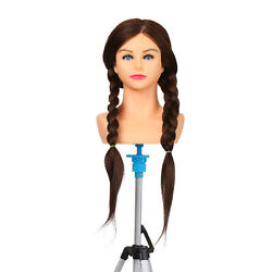 Cosmetology Mannequin Head 100 Real Hair Hairdressing Training T9b1