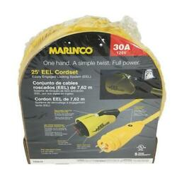Power Products Cs30-25 Marinco Eel Cordset 30a 125v 25and039 Yellow