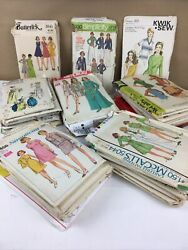 Large Lot 35+ Vintage Sewing Patterns Butterick Mccall Simplicity 60s 70s 80s