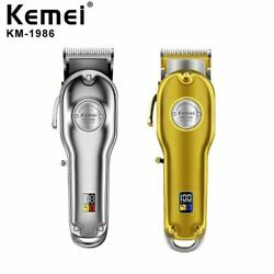 Kemei 1986 All-metal Professional Cordless Hair Clipper Trimmer Barber