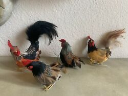 Rooster Chicken Hen Feathers Vintage Christmas Tree Nesting Ornament