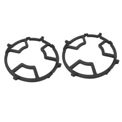 10x2 Pack Universal Black Wok Support Stove Trivets For Kitchen And Camping