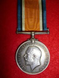Ww1 British War Medal To Corporal Wood Military Foot Police