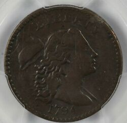 Pcgs Xf Details 1794 Liberty Cap Us Early Copper Large Cent 1c - S-43 R.2