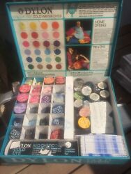 Dylon Cold Dyes Counter Top Store Display Hippie Tie Dye Case Kit 1960s Vintage