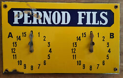 Antique Plate Sign Counter Of Petanque Pernod Son Concours Ball Leisure