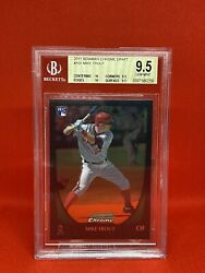 2011 Bowman Chrome Draft Mike Trout Rookie Rc Bgs 9.5 - Psa 10 And Pristine Comps