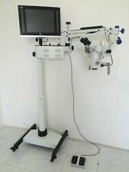 5 Step Floor Stand Dental Microscope - Manual Fine Focusing - Free Shipping