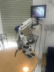 Dental Wall Mount Microscope Manual Focus - 5 Step Mag White -wd Accessories
