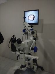 5 Step Ent Wall Mount Microscope - Motorized - Accessories And Led Monitor - New