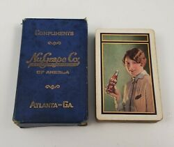 Rare Antique 1920s Nugrape Soda Advertising Playing Cards Complete Set Box Grape