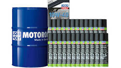 Pack Liqui-moly Drum 205l 10w-40 Synthetic +24 Clean Brake 500ml For Motorbike