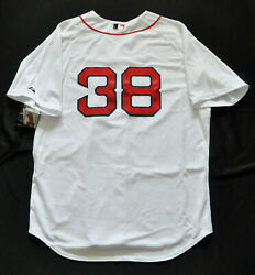 Curt Schilling 38 Boston Red Sox Majestic Authentic Jersey Sewn Men 52 2xl Nwt
