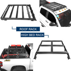 Textured Steel Roof Rack + High Bed Rack Luggage Carrier For Toyota Tundra 14-21