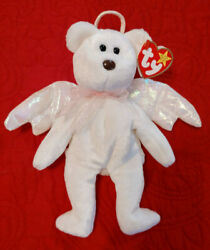 Retired Ty Halo Angel Beanie Baby Very Rare W/ Brown Nose And Errors 1998 New Mint