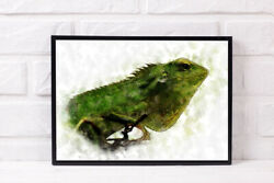 CHAMELEON A4 PRINT PICTURE POSTER WALL ART HOME DECOR UNFRAMED GIFT NEW TRENDY