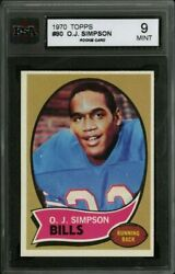 1970 Topps 90 O.j. Simpson Ksa 9 From A Fresh Pack Perfect Printing And Color Hq