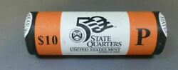 2004 P Wisconsin State Quarter Unopened Beautiful Orange Us Mint Coin Roll