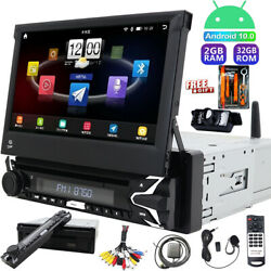 Android 10 Single Din Car Stereo Touch Screen Radio Dvd Cd Gps Obd2 Touch Camera