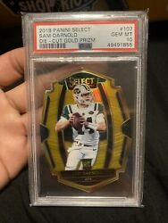 2018 Select Gold Die-cut Sam Darnold Rc 2/10 Population 1