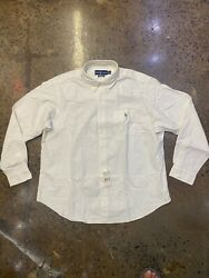 Polo Ralph Lauren Classic Fit Oxford Pony Dress Shirt For Men Off White XXL NWT