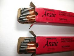 2 Boxes Of 50 Each Arcair 22-033-003 Copperclad Electrodes 3/16in 12in