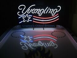 New Yuengling Lager Us Flag America's Oldest Brewery Bar Neon Sign 24x20