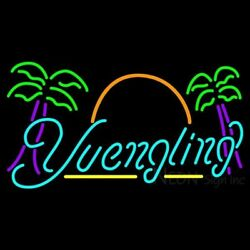 New Yuengling Eagle Palm Trees Beer Bar Neon Light Sign 24x20