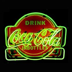 New Drink Coca Cola In Bottles Neon Light Sign 24x20 Lamp Poster Real Glass