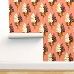 Wallpaper Roll Ice Cream Summer Vintage Cute Food Retro Kitschy 24in X 27ft