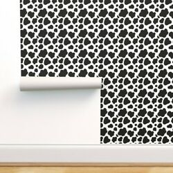 Peel-and-stick Removable Wallpaper Cow Animal Hide Black And White Barn Farm