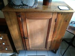 19th Century Antique Country Jelly Cabinet Cupboard
