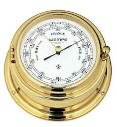 Wempe Cw140002 Globaltec Cup Brass Barometer 140 X 47mm Hpa W/b