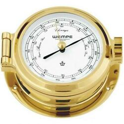 Wempe Cw190002 Globaltec Cup Brass Nickel Plated Barometer 140 X 47mm W/b