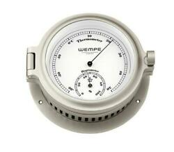 Wempe Cw190005 Globaltec Brass Cup Nickel Thermometer/hygrometer 140x47mm W/b