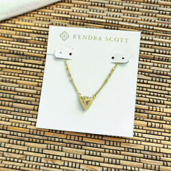 Kendra Scott Perry Vintage Gold Pendant Necklace New Authentic