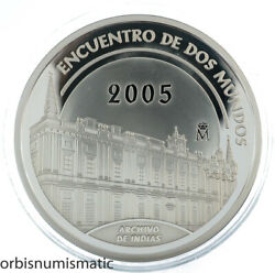 Spain 10 Euro 2005 General Archive Of The Indies Very Rare Silver Proof Zg169