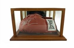 Mike Tyson Autographed Red Boxing Glove Signed In Silver Beckett Ce Csc029061