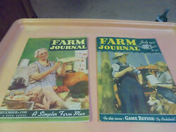 Vintage Two Farm Journal Magazines July 1938 December 1938